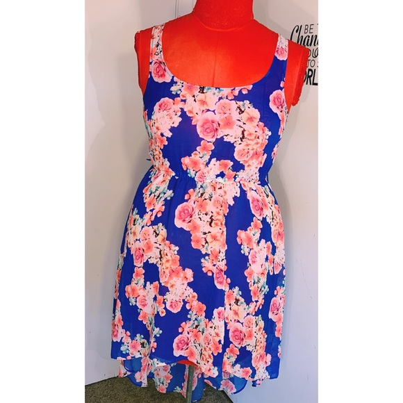 Candie's Dresses & Skirts - Candies sheer floral high low dress 🌸